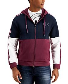 Men's Tri-Colorblock Zip-Up Hoodie
