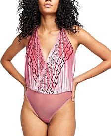 Body Talk Velvet Bodysuit