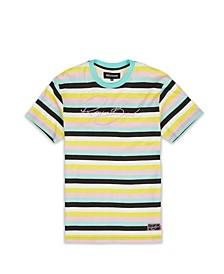 Men's Big & Tall Wavy Stripe T-Shirt