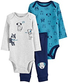 Carters Baby Neutral 3-Piece Dog Little Character Set