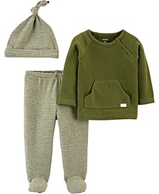 Carters Baby Girl or Boy 3-Piece Tee & Footed Pant Set