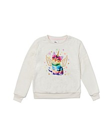 Big Girls Long Sleeve Graphic Pullover