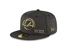 Los Angeles Rams 2020 NFL On-field Salute To Service 59FIFTY Cap