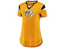 Nashville Predators Women's Athena Lace Up Shirt