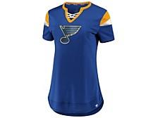 St. Louis Blues Women's Athena Lace Up Shirt