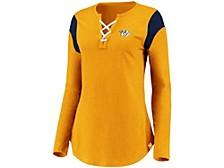 Nashville Predators Women's Iconic Lace Up Long Sleeve Shirt