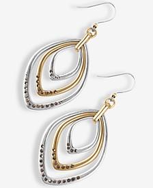 Two-Tone Pavé Orbital Drop Earrings