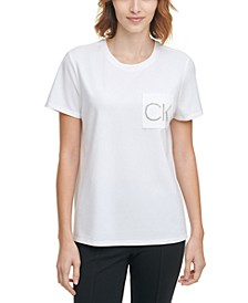 Rhinestone Logo Pocket T-Shirt