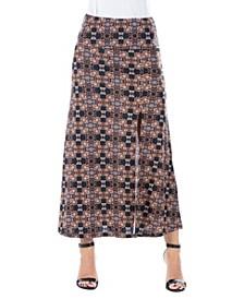 Women's Paisley Print Ankle Length Skirt
