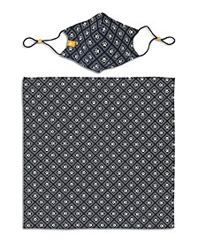 X Best Friends Unisex Paw Print Geo Curved Mask and Bandana Set