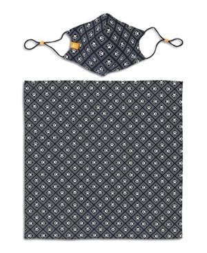 x Best Friends Unisex Paw Print Geo Curved Mask and Bandana Set