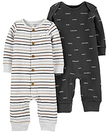 Carters Baby Boy 2-Pack Cotton Jumpsuits