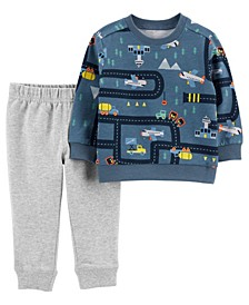 Carters Toddler Boy 2-Piece Airplane French Terry Top & Jogger Set
