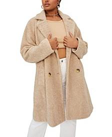 Trendy Plus Size Teddy Coat