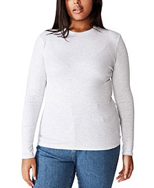 Cotton On Trendy Plus Size Turn Back Long Sleeve Top