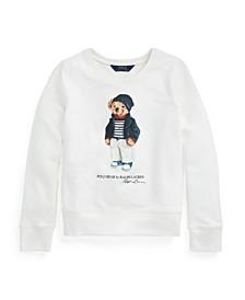 Big Girls Polo Bear French Terry Sweatshirt
