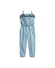 Big Girls Chambray Romper