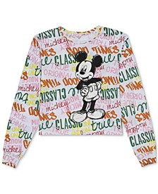 Juniors' Mickey Mouse Long-Sleeve T-Shirt