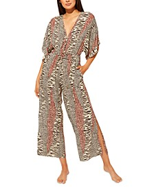 Printed Cover-Up Jumpsuit