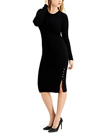 Shae Buttoned Sweater Dress