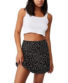 Women's Simple Slip Mini Skirt