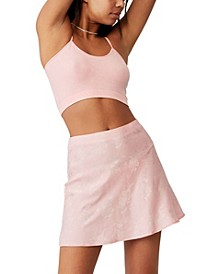 Women's Simple Slip Mini Skirt