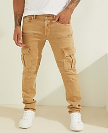 Slim-fit Tapered Cargo Moto Jeans