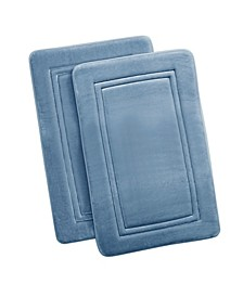 Antimicrobial Memory Foam Bath Rug, Set of 2
