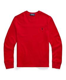 Big Boys Waffle Knit Long Sleeve Polo Shirt