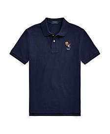 Big Boys Football Bear Mesh Polo Shirt