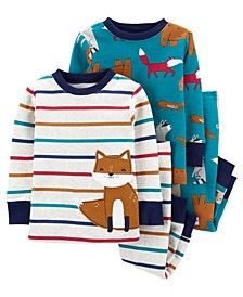 Baby Boys 4-Piece 100% Snug Fit Cotton PJs