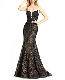 Sequin Lace Corset Gown