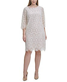 Plus Size Lace Shift Dress