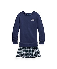 Big Girls Plaid-Skirt Sweatshirt Dress
