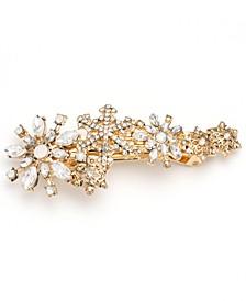 Gold-Tone Crystal Snowflake Hair Barrette