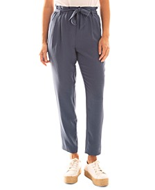 Juniors' Paperbag-Waist Ankle Pants