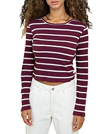 Junior's Striped Cropped Top