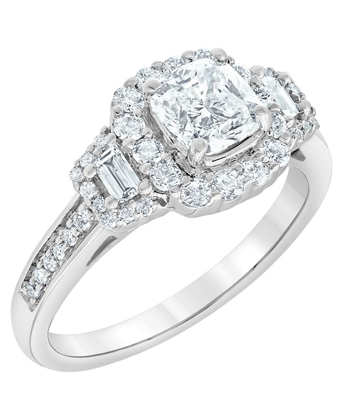 Macy's - Diamond Engagement Ring (1 5/7 ct. t.w.) in 18k White Gold