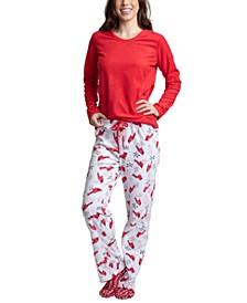 Fleece Top, Pants & Socks 3pc Pajama Gift Set