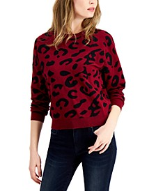 Cheetah Print Sweater, Created for Macy's