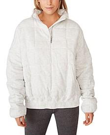 Women's Quilted Zip Through Fleece Sweater