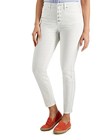 Petite Button-Front Windham Skinny Jeans, Created for Macy's