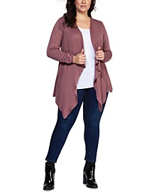 Plus Size Waterfall Cardigan