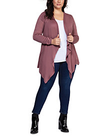 Black Tape Plus Size Waterfall Cardigan