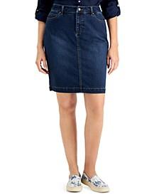 Atlantic Jean Skirt, Created for Macy's