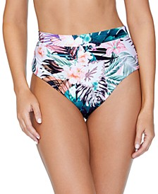 Juniors' Eco Capsule Printed High-Waist Bikini Bottom, Created for Macy's