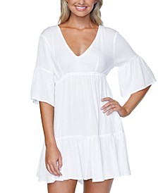 Juniors Solid Tavarua Dress Cover-Up