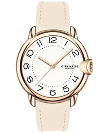Women's Arden Chalk Leather Strap Watch 36mm
