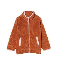 Little Girls Tina Teddy Zip Through Jacket