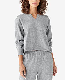 Lucky Brand Cotton Raw-Hem Relaxed Top